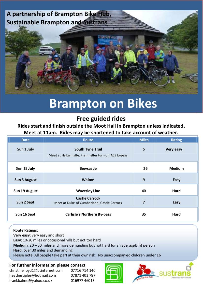 Br on Bikes Flyer July - Sept 12