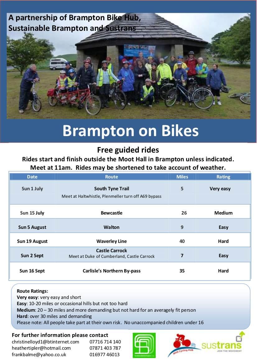 Br on Bikes Flyer July - Sept 12