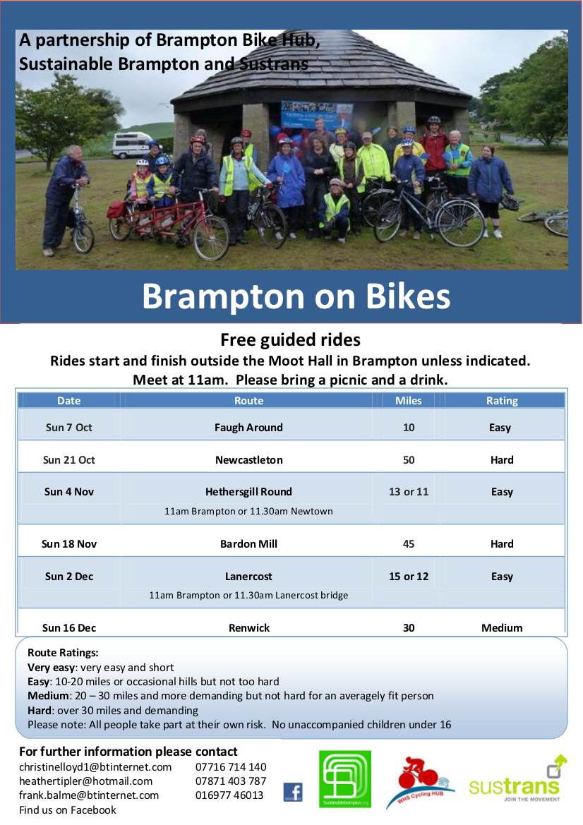 Br on Bikes Flyer Oct - Dec 2012